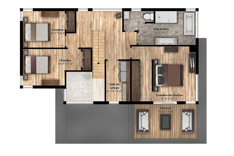 Plan de maison pro fab avie home for Mini maison usinee